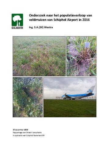 Eindrapportage veldmuizenpopulatieonderzoek Schiphol 2016