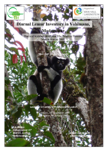 Diurnal Lemur inventory vohimana 2005 all