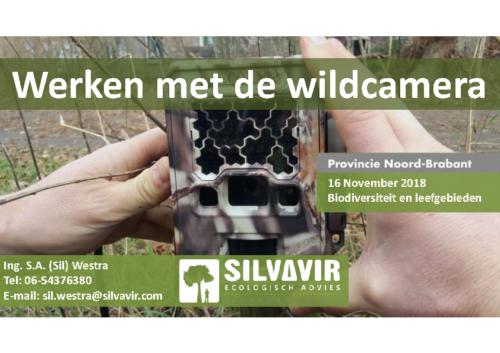 Workshop werken met de wildcamera 2018