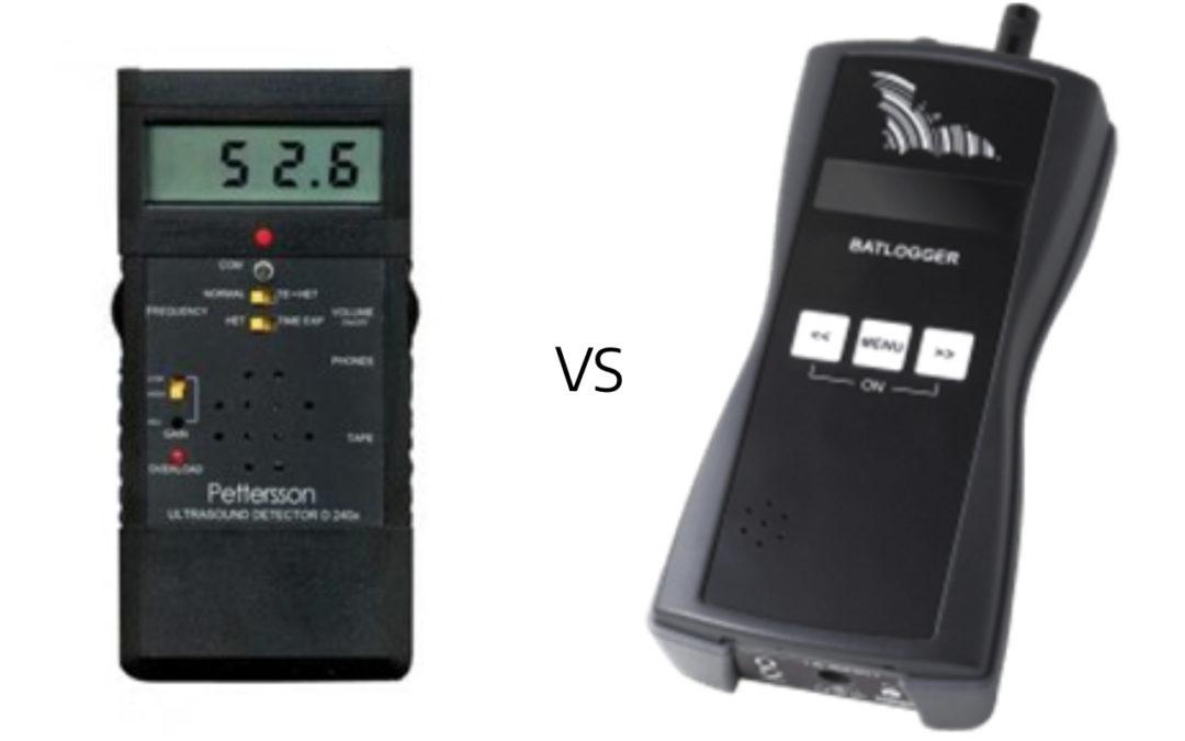 Vleermuis onderzoek een vergelijking –  Batlogger vs D240x
